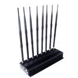 デスクトップの調節可能な8本のアンテナ携帯電話の妨害機のシグナルのブロッカー