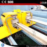 Linha dobro ativa da extrusão da tubulação do PVC da extrusora