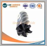 carboneto de tungsténio Moinhos final para a utilização de máquinas CNC