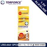 A bateria seca alcalina com Ce aprovou para o brinquedo 12PCS na caixa da caixa (o tamanho de LR03-AAA)