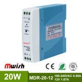 20W 12V CC Alimentation à commutation de rail DIN pour l'équipement industriel