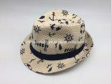 Chapéus de palha cheios do papel de impressão dos miúdos novos (CPHC7075X)