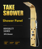 Insieme multifunzionale dell'acquazzone del bagno di trafilatura dell'acciaio inossidabile di massaggio