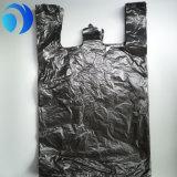 Virgin HDPE 검정 t-셔츠 비닐 봉투