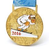 Medalla de oro grabada aduana barata de los UAE del precio de fábrica de la alta calidad