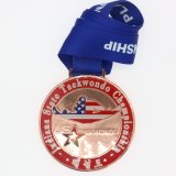 カスタム体操メダル骨董品の黄銅メダル