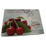 Rectángulo barato del cartón de la fruta para el rectángulo del cartón de la cereza con la aduana impresa