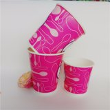 Venta de helados calientes personalizados vasos de papel con tapa cuchara