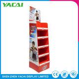Reciclar papel piso expositor interior Rack stands de exposición