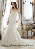 Платья венчания Z512 Mermaid втулок Beaded платья шнурка Bridal длинние