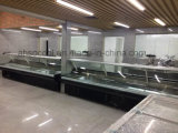 Alzare-in su il frigorifero della visualizzazione della ghiottoneria dei portelli, cassa di visualizzazione refrigerata per i negozi