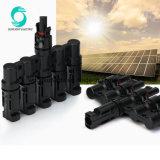 Fabriqué en Chine accessoires Photovoltaïque mc4 T Type 4 à 1 du connecteur de la Direction générale solaire