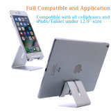 Supporto da tavolino del basamento dello scrittorio di alluminio pieghevole del ridurre in pani per il telefono delle cellule