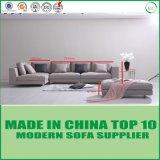 L da sala de visitas moderna do hotel da forma sofá de madeira da tela