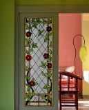 Het Comité van de Deur van het Gebrandschilderd glas van het Patroon van bloemen met de Ambacht van de Kunst