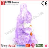 にんじんが付いている安いぬいぐるみの柔らかいウサギのおもちゃのプラシ天のバニー