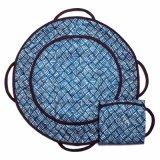 Almofada em mudança do tecido redondo portátil fácil do bebê da estação da guarda da dobra com os bolsos para tecidos e Wipes