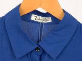 Европейская мода летом Flounced женщин Блуза без рукавов