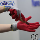 Зеленый Nmsafety борьбы с покрытием из латекса Отрежьте защитные перчатки