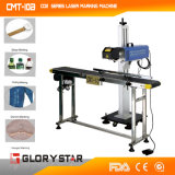 On-line пластиковые/косметический бачок лазерная маркировка машины (GLF-30)