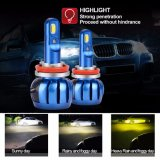Двухцветный светодиод автомобилей лампы фар 25W 3000 лм H11 светодиодные фары дальнего света с одним