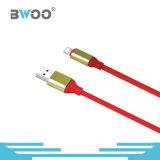 Зарядный кабель данным по USB дешевой молнии цены цветастой микро-