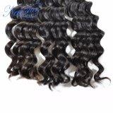 Ослабление волн Черный бразильского Virgin волосы вьются волос человека