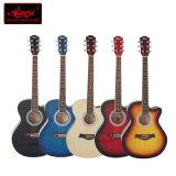 AiersiのブランドのCutway Lindenwoodの実体色のアコースティックギター(SG026C-36)