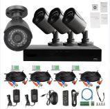 4개의 CCTV 감시 카메라를 가진 4CH H. 264 960p 1.3MP Ahd DVR 장비
