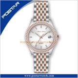 2018 Plein cadre de diamants Boîtier en acier inoxydable Promotion Mesdames montre-bracelet