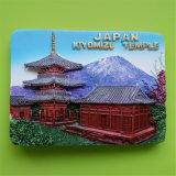 Magneet van de Koelkast van Polyresin van de Gift van de Herinnering van de Vlekken van de Toerist van Japan 3D