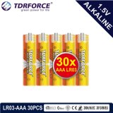 pile alcaline 1.5volt sèche primaire avec Ce/ISO 6PCS/Pack (LR03/AM-4/AAA)