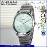 Orologi casuali delle signore del quarzo del cinturino di cuoio di vigilanza di modo (Wy-066A)