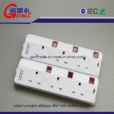 Standard Universal Electric Power Socket Raw wool Protector 4 Gang Socket Extension