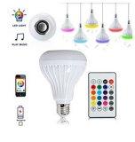 Ampoule LED RGB Color Smart de contrôle à distance de la musique de lampes de haut-parleur