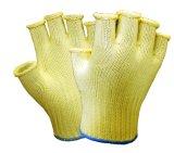 Половина палец трикотажные Anti-Cut безопасности рабочие перчатки (разрез на уровне 5)