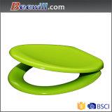 La urea cierre suave asiento del inodoro con bisagra de liberación rápida