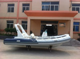 barco inflable rígido de la costilla del barco de pesca del barco de la costilla de la fibra de vidrio de los 5.2m