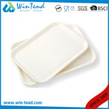 Plateau en plastique de portion d'aliments de préparation rapide de restaurant d'hôtel de certificat