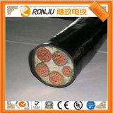 Cavo di rame XLPE di bassa tensione 0.6/1kv dell'isolamento del sommergibile del PVC del cavo corazzato resistente al fuoco sotterraneo del fodero