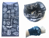 Fábrica OEM Produce Custom Logo Printing Poliéster Multifuncional Magic Neck Tubular Bandana
