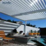 Pergola van Gazebo van het Aluminium van de Tuin van Alunotec de Openlucht Waterdichte Gemotoriseerde met Zonneblinden