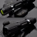 S12 de la luz del lado exterior de la batería recargable linterna LED 18650