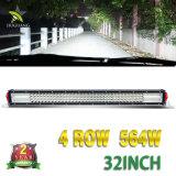 24 barres combinées d'éclairage LED de rangée de quarte du faisceau 32inch d'inondation d'endroit de volt 564W