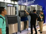 Máquina de hacer hielo comercial 909kg/24h Sk-2000p del cubo grande refrigerado por agua del billar, fabricante de hielo, máquina de hielo