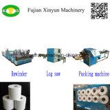 Máquina de embalagem pequena Semi automática do papel de tecido do toalete de Rolls da alta velocidade multi