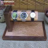 عصريّ تصميم عدّاد طاولة خشبيّة ساعة عرض