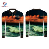 Fabricante de pesca se sublima Sportwear Jersey Camisas de pesca Quick Dry personalizada