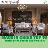 豪華で優雅なホーム家具房状のファブリック古典的なチェスターフィールドのソファー