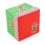 El papel de logotipo personalizado plaza de la caja de regalo para el Festival de Navidad